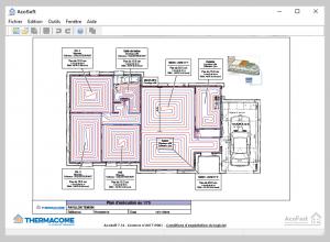 Thermacome, 1er système de planchers chauffants-rafraîchissants hydrauliques basse température – Plan Acosoft