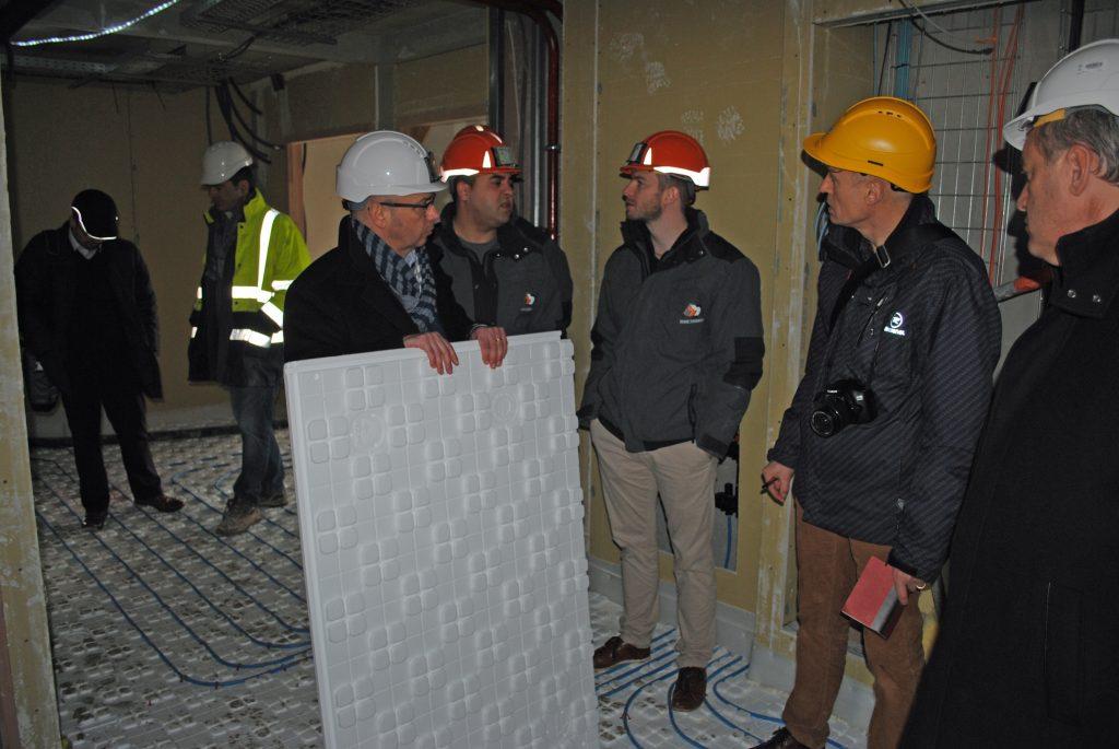 Thermacome, 1er système de planchers chauffants-rafraîchissants hydrauliques basse température – Reportage chantier