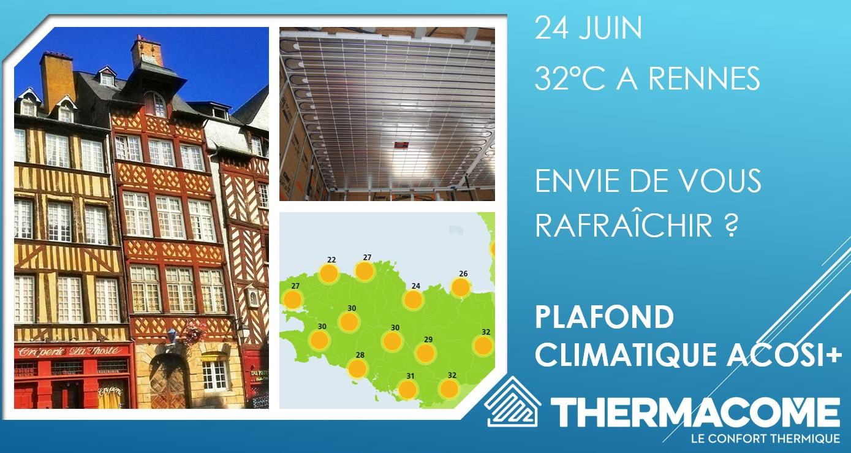 météo en Bretagne, pensez plafond chauffant et rafraîchissant